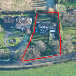 1 - Aerial Photo - New Build Planning Application modern design, contemporary, glazing master bedroom extension surrey architect rac club