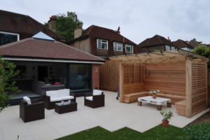 New Rear Terrace and Pergola