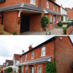 2-front-joaquin-gindre-keeps-architect-new-kitchen-en-suite-planning-application-surrey-architect-vaulted-ceiling-exposed-brick