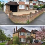 8 Before & After - Front - Keeps Architect, Joaquin Gindre, Planning Application, Rear Extension, Zinc Cladding, Crittall style doors