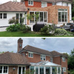 3 - Keeps Architect, Joaquin Gindre, Planning application, surrey architect, extension Before & After - Rear 1
